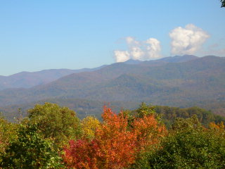 smokey mountain fall colors view